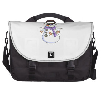 SNOWMAN WITH STAR GARLAND LAPTOP BAGS