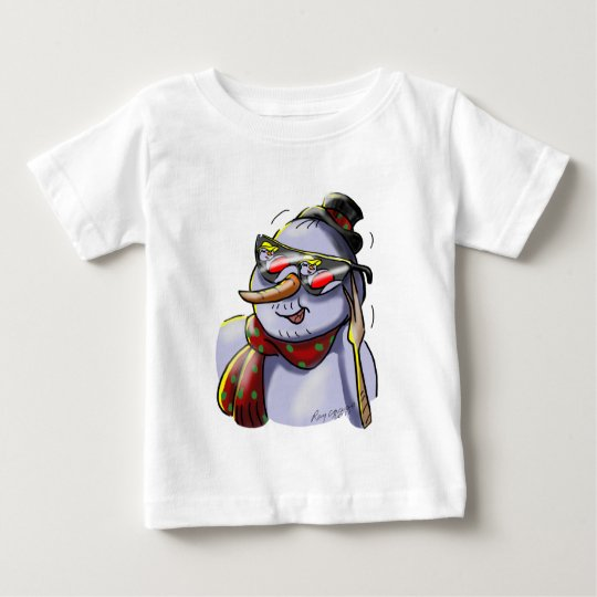 SnOwMaN WiTh SuNgLaSSes Baby T-Shirt