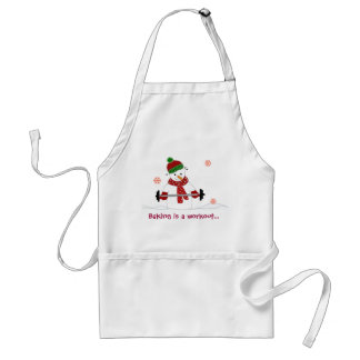 Snowman with Sweet Saying Adult Apron