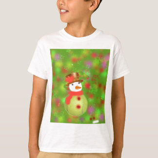Snowman with tennis ball welcome holiday season T-Shirt
