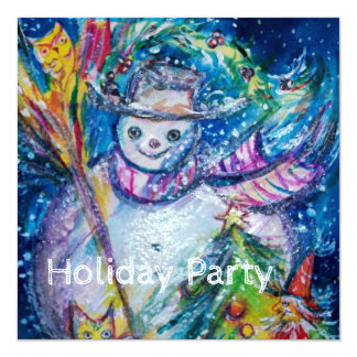 SNOWMAN WITH TOYS, Christmas Holiday Party Card