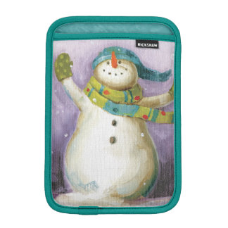 Snowman with Winter Mittens Sleeve For iPad Mini