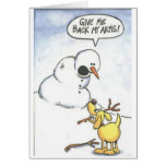 Snowman without arms card