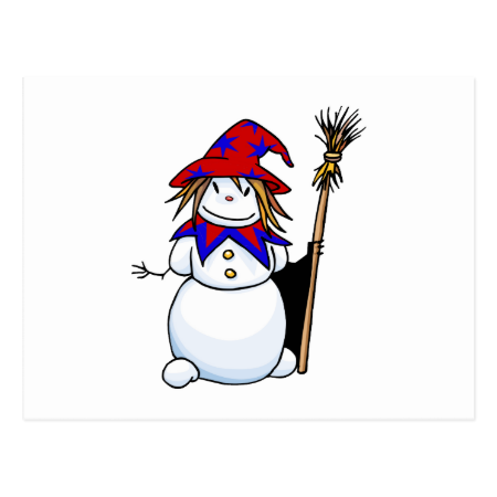 Snowman Wizard Postcard
