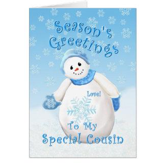 Snowman Wonderland for Cousin Christmas Card