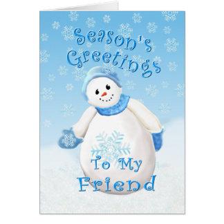 Snowman Wonderland for Friend Christmas Card
