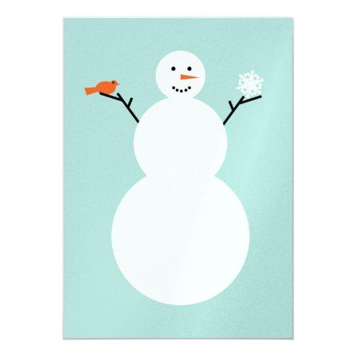 """Snowman y tarjeta de Navidad del logotipo de Invitación 5"""" X 7"""""""