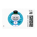 Snowmanbot Postage Stamp