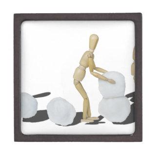 Snowmanbuilding Cajas De Regalo De Calidad