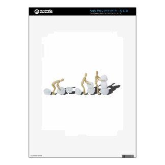 Snowmanbuilding iPad 3 Pegatina Skin