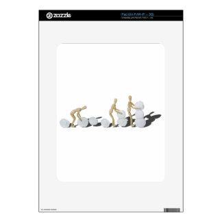 Snowmanbuilding iPad Calcomanía