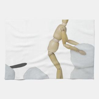 Snowmanbuilding Kitchen Towels