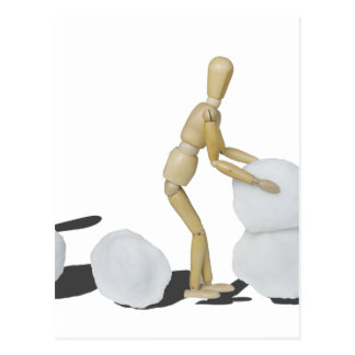 Snowmanbuilding Tarjeta Postal