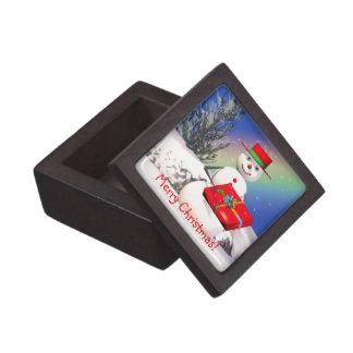 Snowmans Christmas Present Gift Box