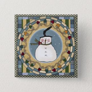 Snowman's Winter Pinback Button