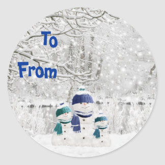 Snowman's Winterwonderland Sticky Labels