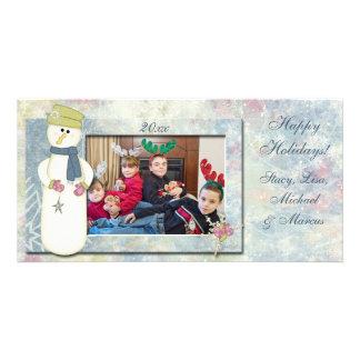 Snowman's Wonderland Photo Card