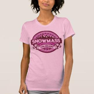Snowmass Color Logo Raspberry T-Shirt