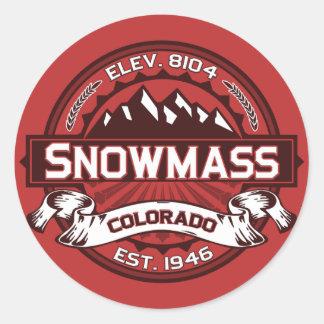 Snowmass Color Logo Sticker