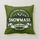 Snowmass Color Logo Throw Pillows