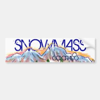 Snowmass Colorado artistic mountain sticker Car Bumper Sticker