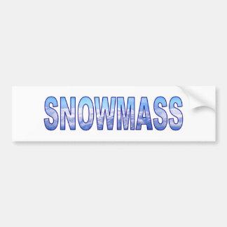 Snowmass, Colorado Car Bumper Sticker