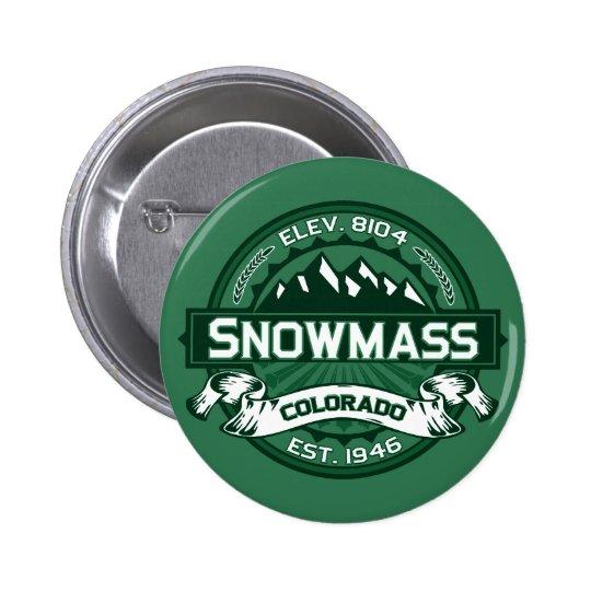 """Snowmass """"Colorado Green"""" Logo Pinback Button"""