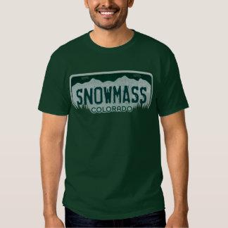 Snowmass Colorado guys license plate tee