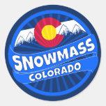 Snowmass Colorado mountain burst sticker