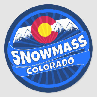 Snowmass Colorado mountain burst sticker