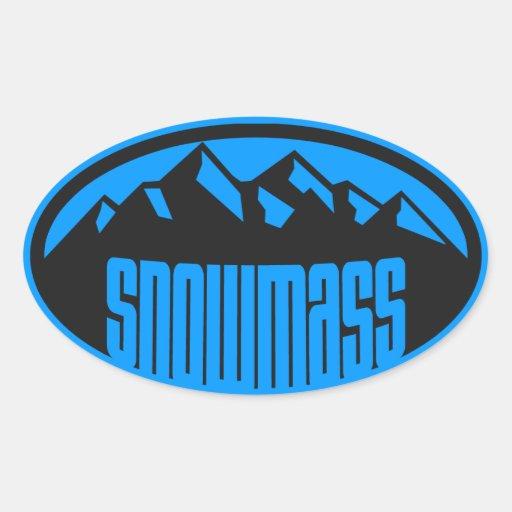 Snowmass Colorado Oval Sticker