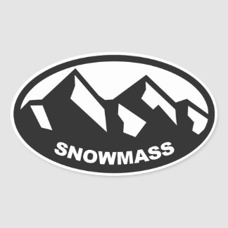 Snowmass Colorado Oval Sticker