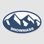 Snowmass Colorado Oval Stickers
