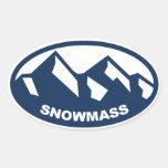 Snowmass Colorado Calcomanías De Ovales Personalizadas