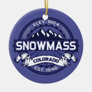 Snowmass Midnight Ceramic Ornament