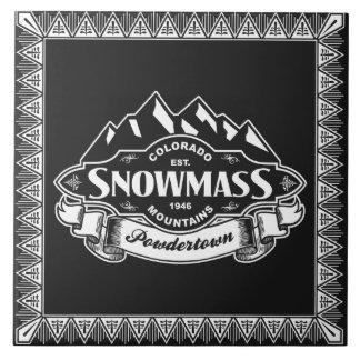 Snowmass Mountain Emblem Ceramic Tile