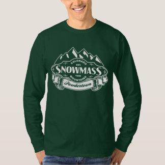 Snowmass Mountain Emblem White T-Shirt