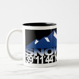 Snowmass Mountain GPS Blue Mug