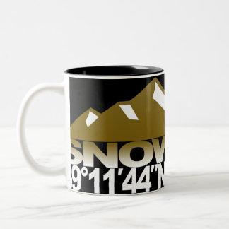 Snowmass Mountain GPS Gold Mug