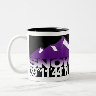 Snowmass Mountain GPS Violet Mug