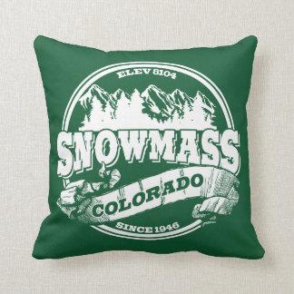 Snowmass Old Circle White Throw Pillow