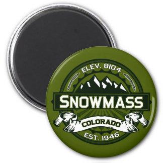 Snowmass Olive Logo Magnet