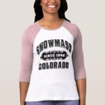Snowmass Since 1946 Black Tee Shirt