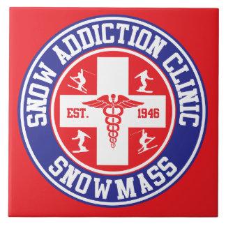 Snowmass Snow Addiction Clinic Ceramic Tile