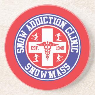 Snowmass Snow Addiction Clinic Drink Coaster