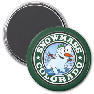 Snowmass Snowman Circle Magnet