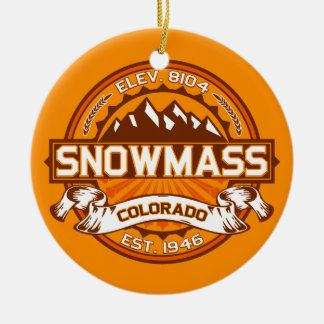 Snowmass Tangerine Ceramic Ornament