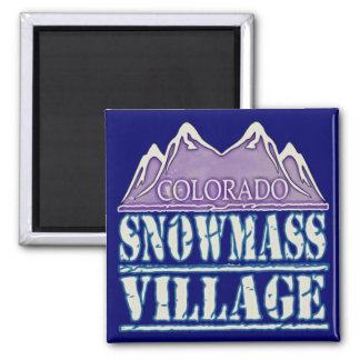 Snowmass Village, Colorado 2 Inch Square Magnet