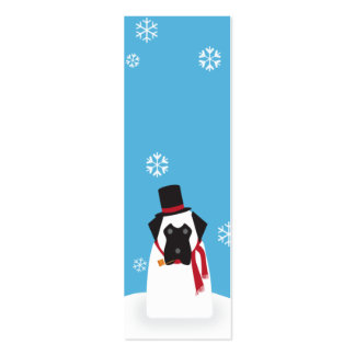 Snowmastiff_skinny Double-Sided Mini Business Cards (Pack Of 20)