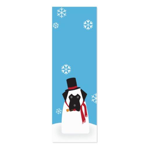 Snowmastiff_skinny Business Card Templates